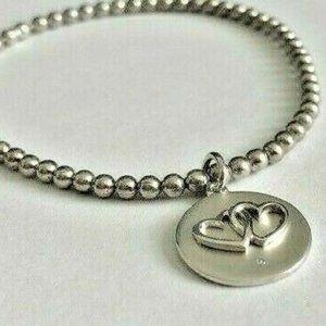 Together Forever Sterling Diamond Bracelet